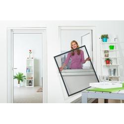 empasa Insektenschutz-Fenster FLEX, für flächenversetzte Fenster grau 130 cm x 150 cm