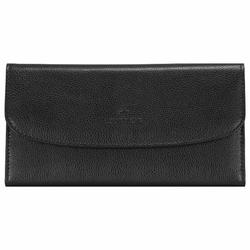 Windrose Beluga Schmucktasche 20 cm Leder schwarz