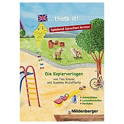that's it! - Die Kopiervorlagen - Buch