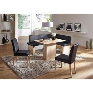 SCHÖSSWENDER Eckbankgruppe Anna, (Set, 5-St), zeitloeses Design schwarz
