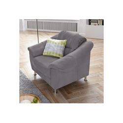 sit&more Sessel, mit Federkern grau
