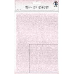 URSUS 3 Menükarten und 12 Tischkarten, rosa