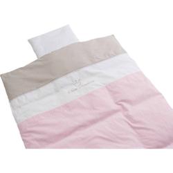 Babybettwäsche Kleine Prinzessin, Baumwolle, rosa, 80 x 80 cm Gr. 80 x 80 + 35 x 40