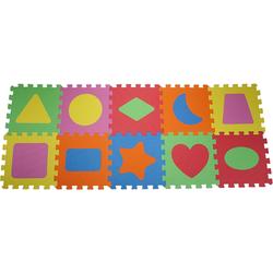 Knorrtoys® Puzzle Geo Formen, 10 Puzzleteile, Puzzlematte, Bodenpuzzle