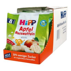 HiPP Bio Kinder Reiswaffeln Apfel 30 g, 7er Pack