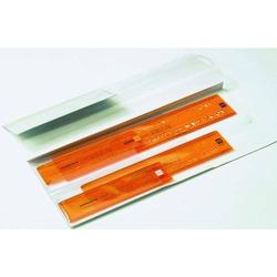 Schriftschablonen Set Mittelschrift gerade 2,5/3,5/5/7mm orange/transparent
