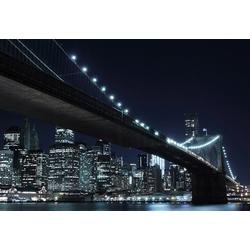 Fototapete New York by night, Home affaire (8-tlg.) schwarz Fototapeten Tapeten Bauen Renovieren