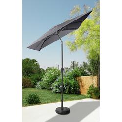 garten gut Sonnenschirm, LxB: 160x230 cm, abknickbar, ohne Schirmständer grau
