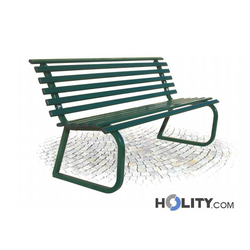 Sitzbank mit Rückenlehne für öffentliche Bereiche h28768