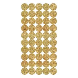 Rico-Design Verlag Sticker Kreise, gold, 200 Stück