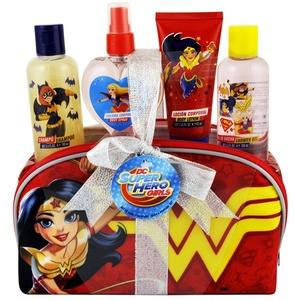 DC Super Hero Mädchen Bad/Kinder Parfum-Set, Rot, 5-teilig