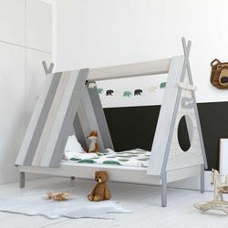 Zelt Kinderbett in Weiß und Grau 105 cm breit