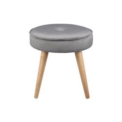 Ribelli Hocker, Hocker Sitzhocker Fußhocker Polsterhocker Sitz gepolstert Ø 40cm grau pink beige grau