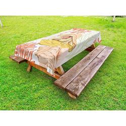 Abakuhaus Tischdecke dekorative waschbare Picknick-Tischdecke, Aquarium Einsiedlerkrebs mit Shell 145 cm x 305 cm