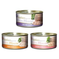 APPLAWS Cat Mousse Tin Gemischte Geschmacksrichtungen 70 g x 12 (10+2 FREE)