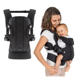 Fillikid Babytrage Fillikid Babytrage Walk 4in1 - Schwarz, Ergonomische Kindertrage Bauchtrage
