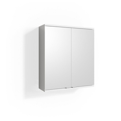 Vicco Badezimmerspiegelschrank Spiegelschrank ROY 60 x 68 cm Weiß - Spiegel Badspiegel Bad Wandspiegel