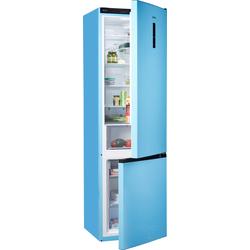 Kühl-/Gefrierkombination, 200 cm hoch, 60 cm breit, Kühlgefrierkombinationen, 37625238-0 blau blau