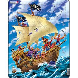 Larsen Puzzle Rahmen-Puzzle, 30 Teile, 36x28 cm, Piraten, Puzzleteile