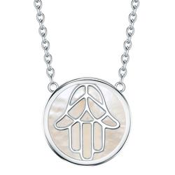 Rafaela Donata Halskette Hand der Fatima Sterling Silber Perlmutt  silber