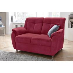 sit&more 2-Sitzer, mit Federkern rot