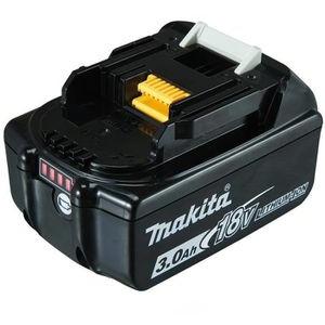 Makita Werkzeug-Akku BL1830B, 197599-5, 18V / 3,0Ah, Schiebeakku mit LED Ladestandanzeige