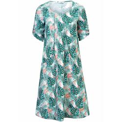 Abendkleid Leinen-Kleid Emilia Lay grün/rosé