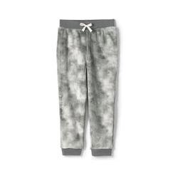 Pyjamahose aus Plüsch-Fleece - 134/140 - Grau Batik