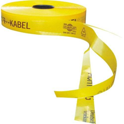 Kelmaplast Trassen-Warnband T-Kabel mit Sollbruchstellen