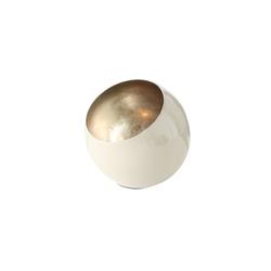 Boltze Windlicht Bonelli in creme/mint, 19 cm
