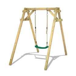 Wickey Einzelschaukel Schaukelgestell Smart One - Schaukel, Schaukelgerüst, Kinderschaukel, Holzschaukel grün
