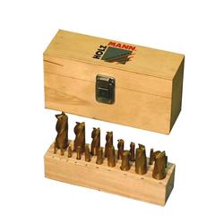 Holzmann Fingerfräser FFS20 20-teilger Fräsersatz 3-20 mm