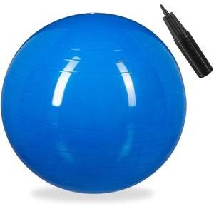 Relaxdays Gymnastikball 85cm, belastbar bis 250kg, blau