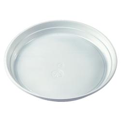 Menüteller PP ungeteilt ohne Anfasser, Durchmesser: 21,9 cm, weiß, 1 Packung = 100 Stück
