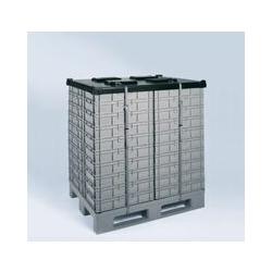 Certeo - Abdeckhaube - 1000 x 1200 mm - mit Gurt Abdeckhaube Abdeckhauben Stapelbehälter