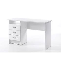 ebuy24 Schreibtisch Fula Schreibtisch 3 Schubladen weiss.