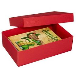 2 BUNTBOX L Geschenkboxen 3,6 l rot 26,6 x 17,2 x 7,8 cm