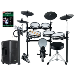 XDrum DD-530 Mesh Heads E-Drum MAXI LIVE KIT mit Drum-Monitor und Hocker