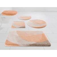 Badematte Harmony Kleine Wolke EXKLUSIV, Höhe 25 mm, rutschhemmend beschichtet, strapazierfähig rosa rechteckig - 50 cm x 90 cm x 25 mm