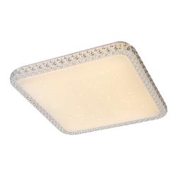 LED Deckenleuchte, Kristall, LED 24 Watt, Weiß, 43,5 cm x 43,5 cm