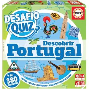 Educa 18220 Desafio Quiz-Descobrir Portugal, Logo mit Pergspitzen, + 6 Jacken