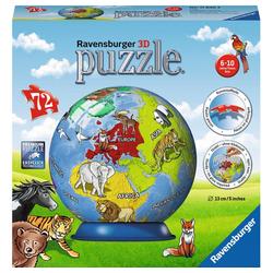 Ravensburger 3D-Puzzle Kindererde - Puzzle-Ball, 72 Puzzleteile