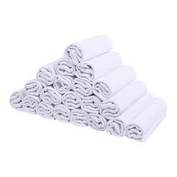 LULANDO Stoffwindeln 20 Stück weiß 70 x 80 cm