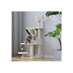 Merax Kratzbaum, Natürliche Sisal-Kratzbäume Haustierhaus weiß