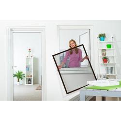 empasa Insektenschutz-Fenster FLEX, für flächenversetzte Fenster braun 80 cm x 100 cm
