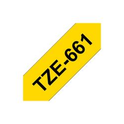 Brother TZe-661 laminiertes Band 36mm x 8m schwarz auf gelb