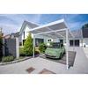 GUTTA Premium Carport 309,4 x 562 cm, weiß, Acryl bronce 16 mm