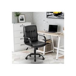 Merax Drehstuhl, Kunstleder Office Chair höhenverstellbar Bürostuhl für Büro/Wohnzimmer