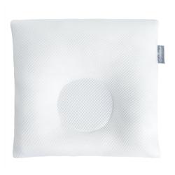 SEI Design Babykissen mit Kopfmulde gegen Plattkopf, inkl. Bezug, für eine natürliche Kopfform weiß 6-18 Monate - 28 cm x 28 cm