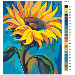 "Malen nach Zahlen ""Sonnenblume"", 40x50cm, RA211"